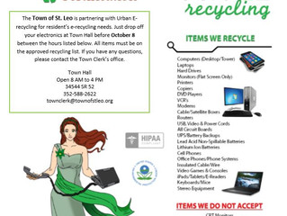 Urban E-Recycling at St. Leo Town Hall