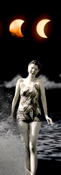 digital collage of faye