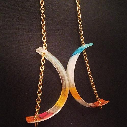Shrinkie Earrings: Crescents, Astro Theme