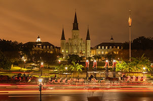 Night in Jackson Square