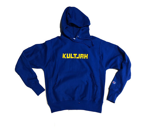 LIMITED EDITION COLLECTION KULTJAH x CHAMPION REVERSE WEAVE HOODIE (BLUE)