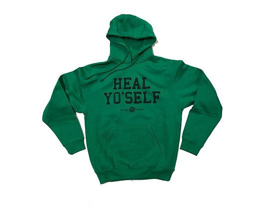 HEAL YO'SELF HOODIE (HERB GREEN)
