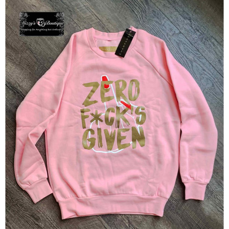Zero Fucks Given Clothing Line by The Champagne Room