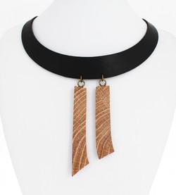 oak leather necklace