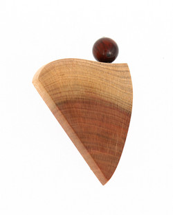 plum red tigers eye brooch