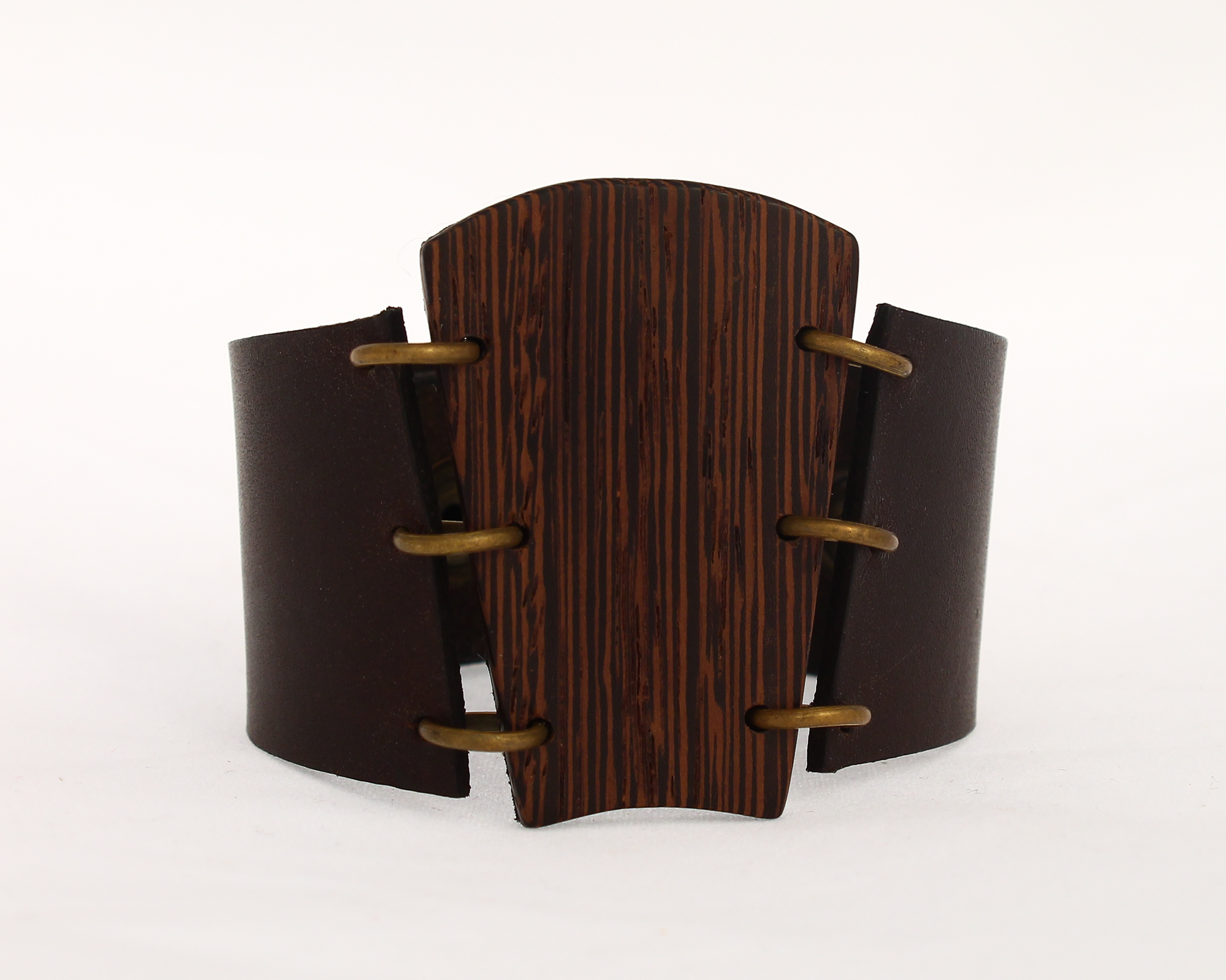 wenge leather cuff bracelet