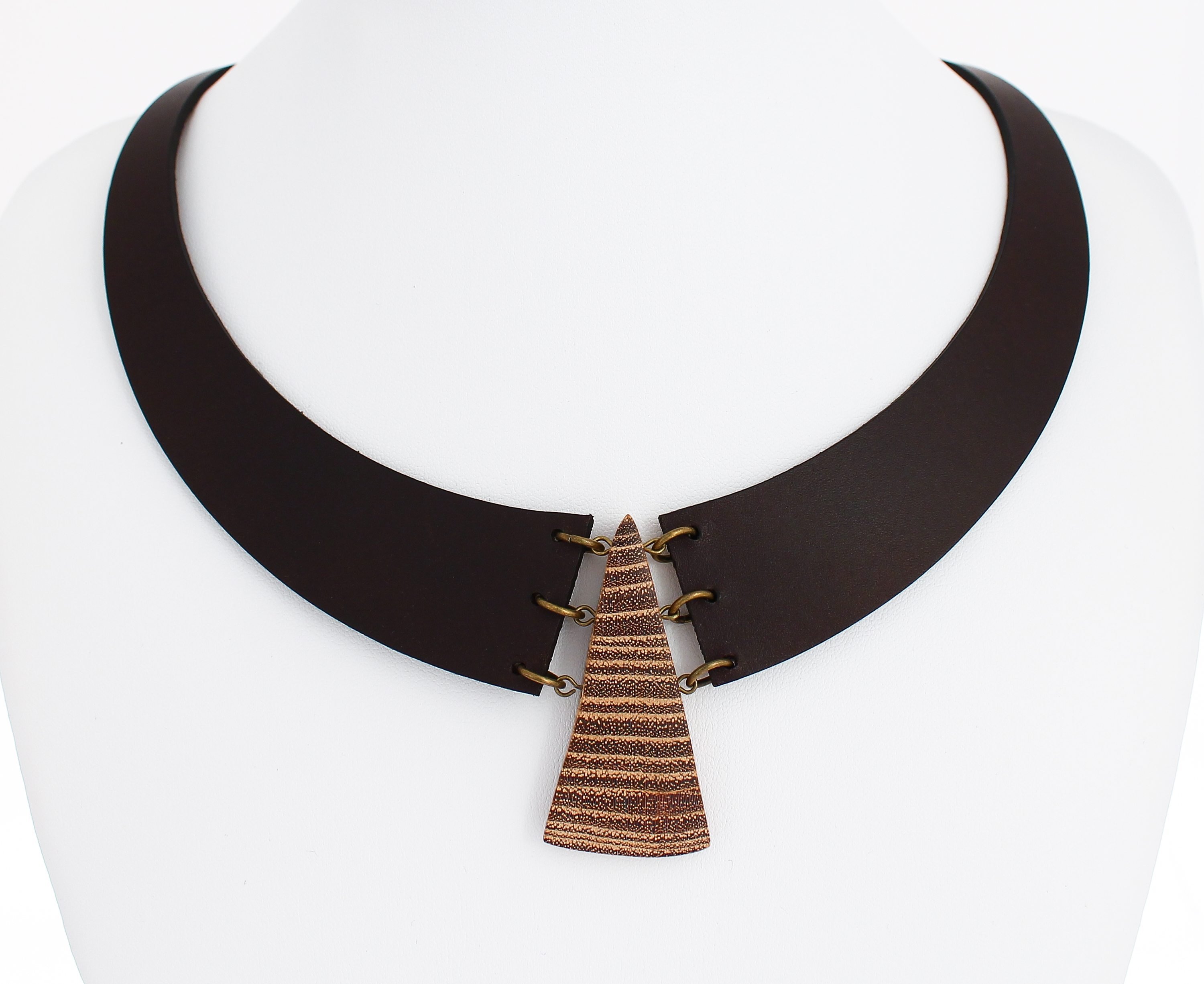 black locust leather necklace