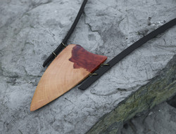 wild pear leather necklace