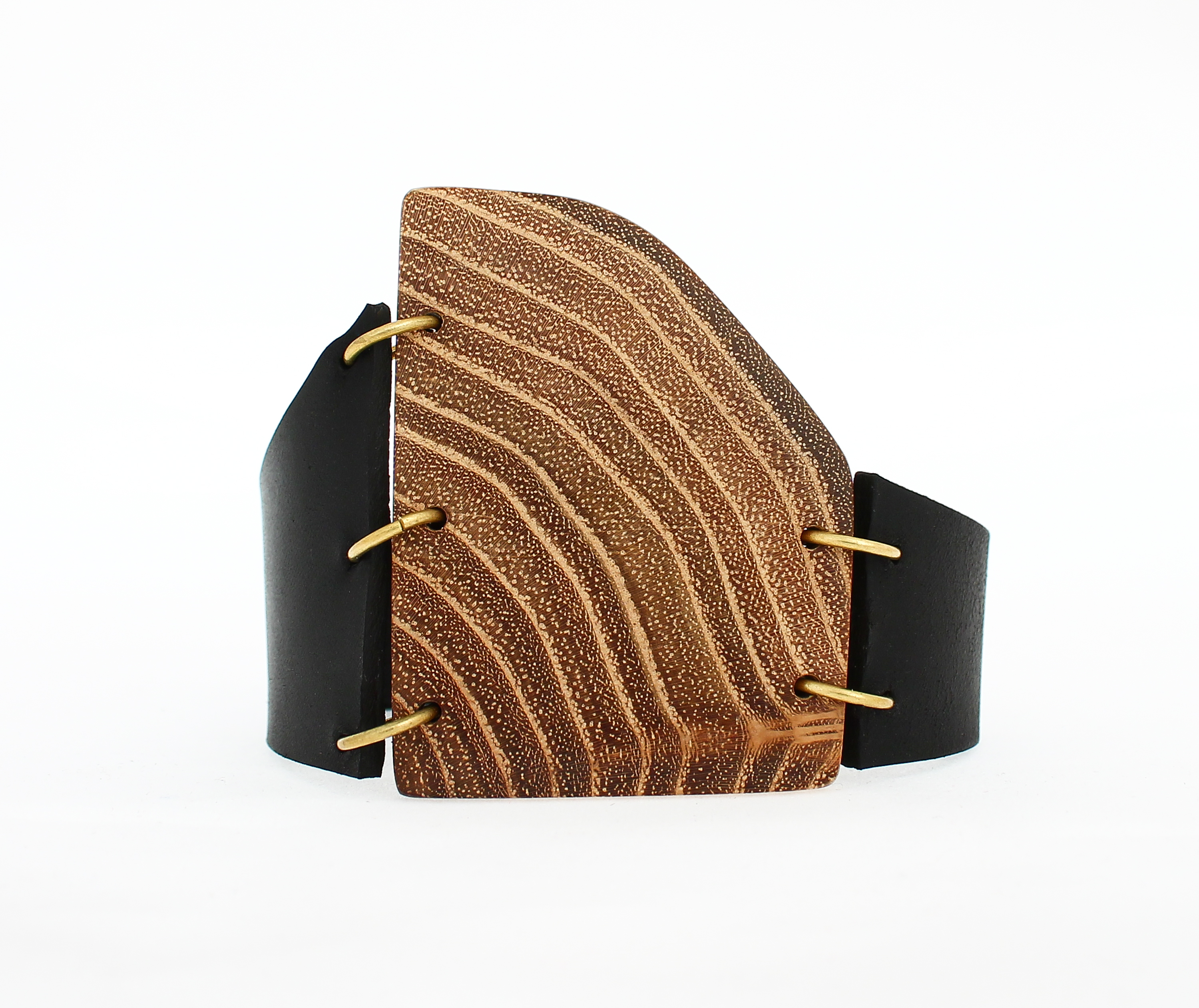 black locust leather cuff bracelet