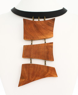 wild cherry leather necklace