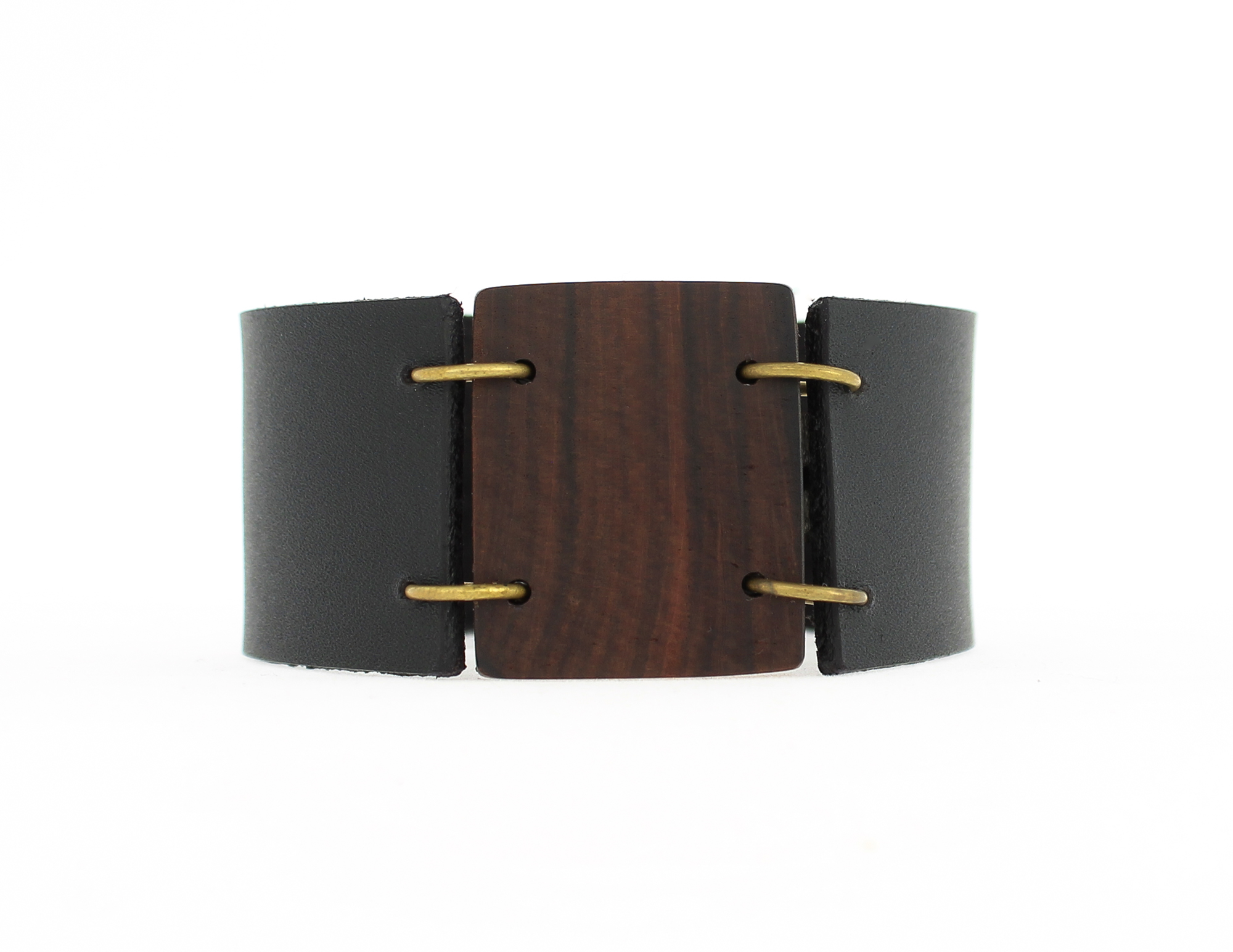 rosewood leather cuff bracelet