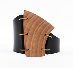 beech leather cuff bracelet