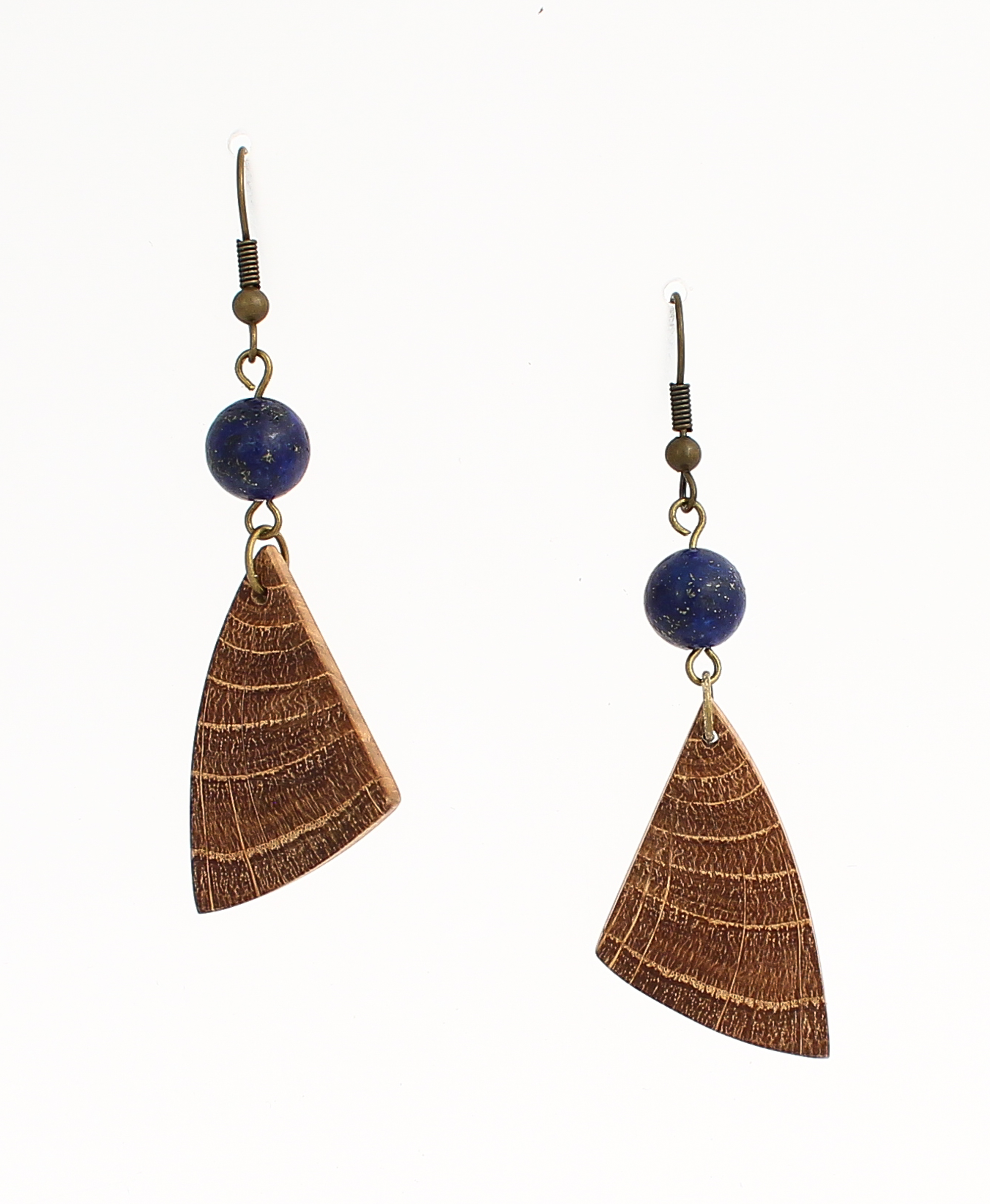 oak lapis lazuli earrings
