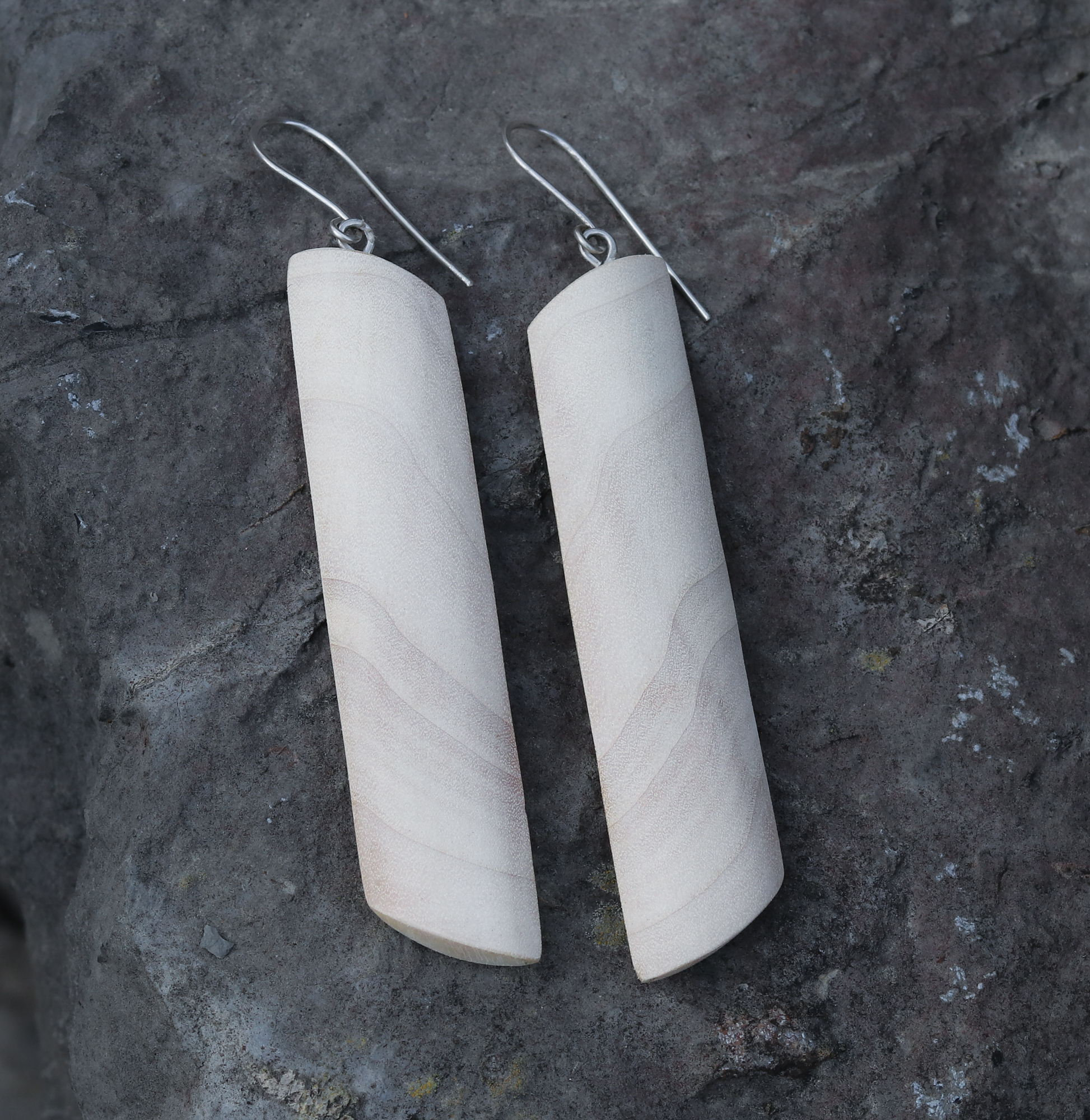 black poplar silver earrings