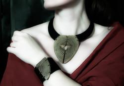 black locust leather cuff bracelet