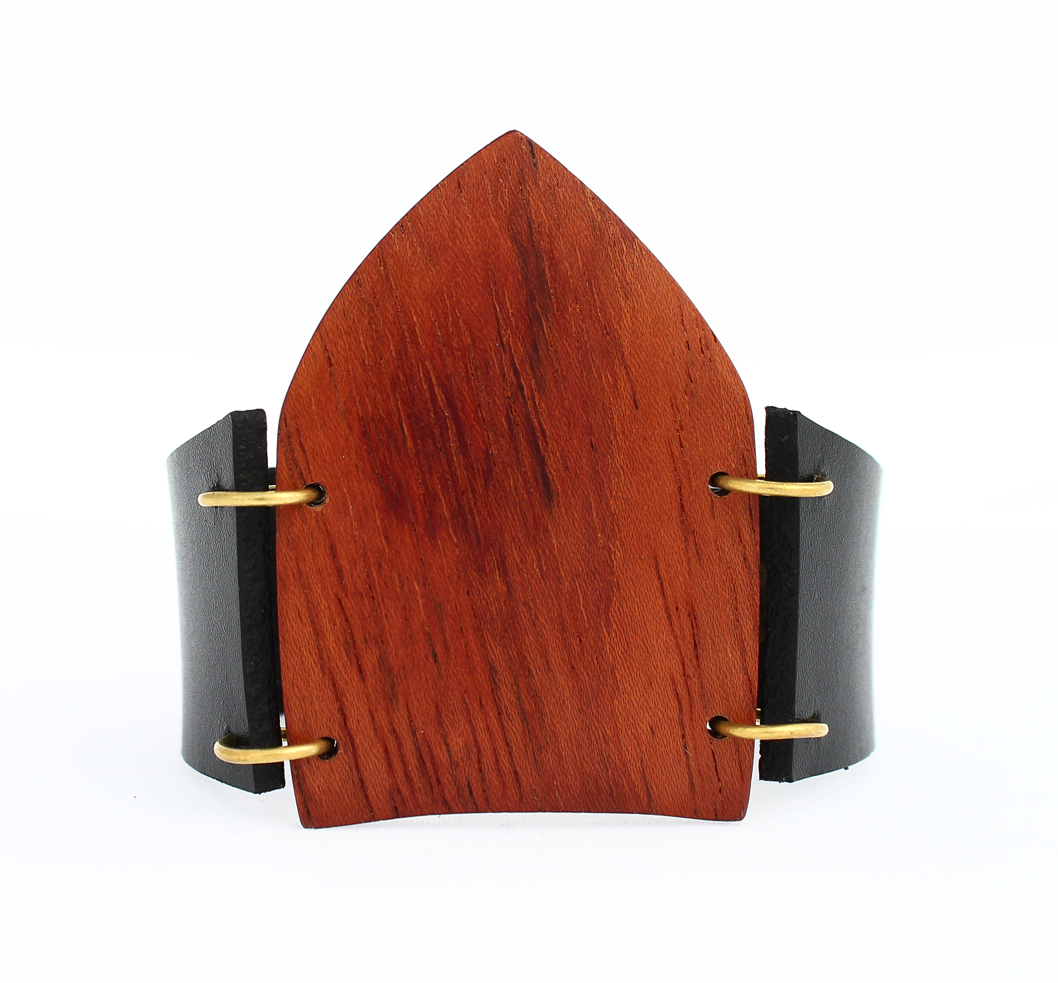 mahogany leather cuff bracelet