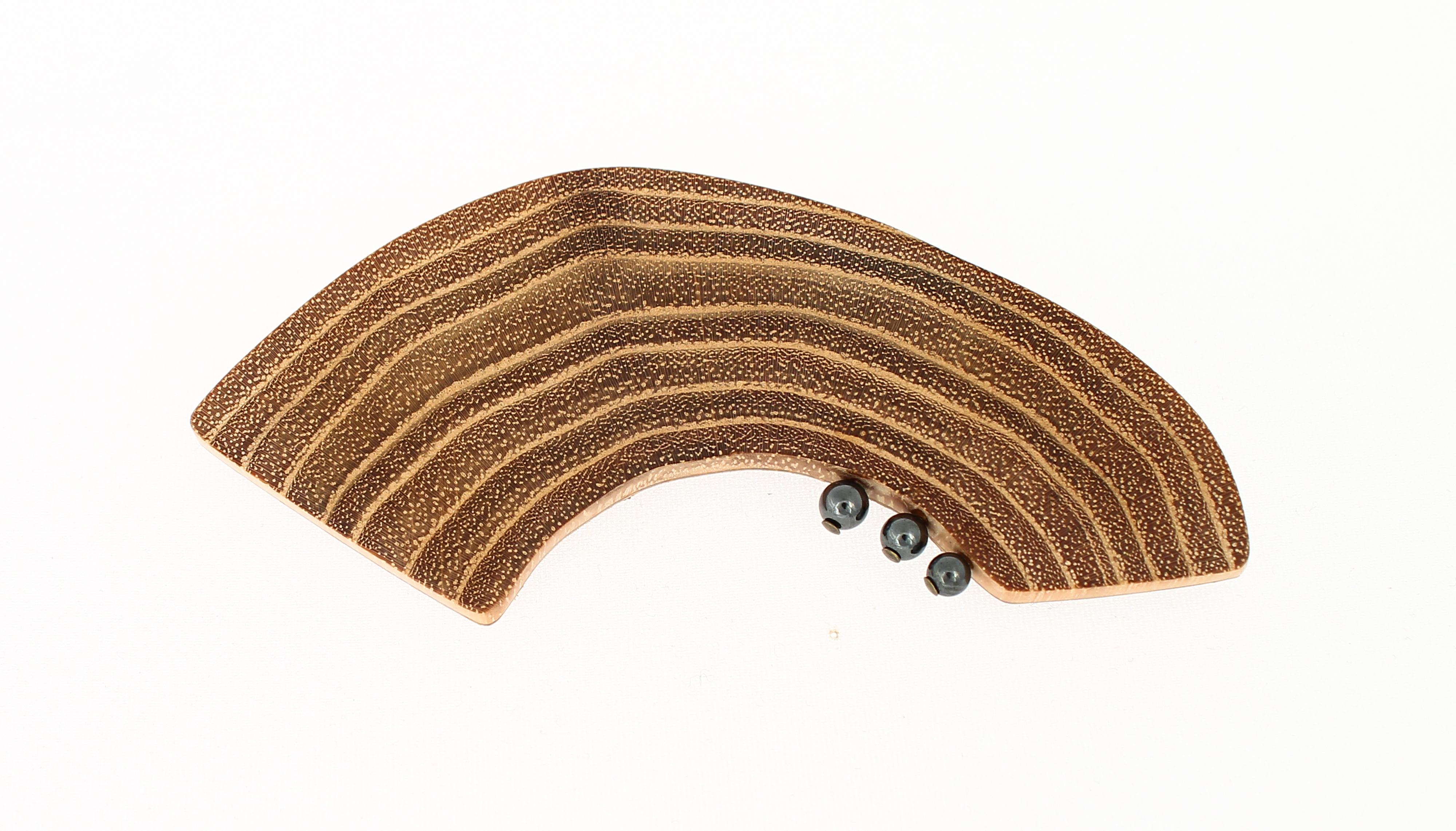 black locust hematite brooch
