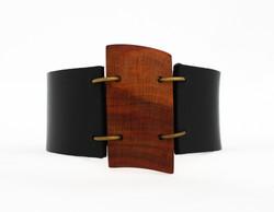 plum leather cuff bracelet
