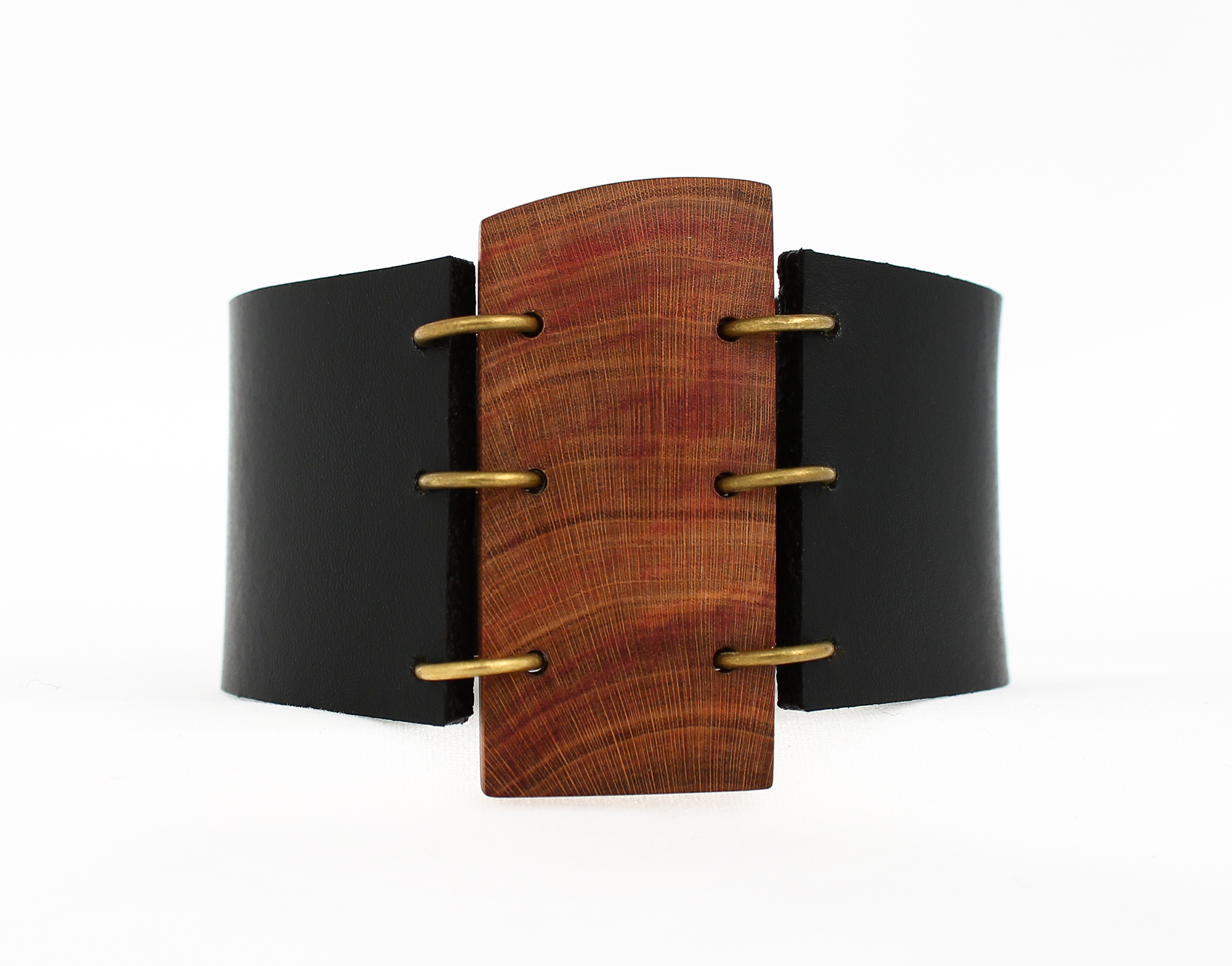 plum leather cuff bracelet