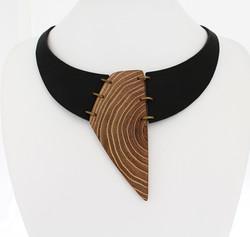 black locust leather necklace