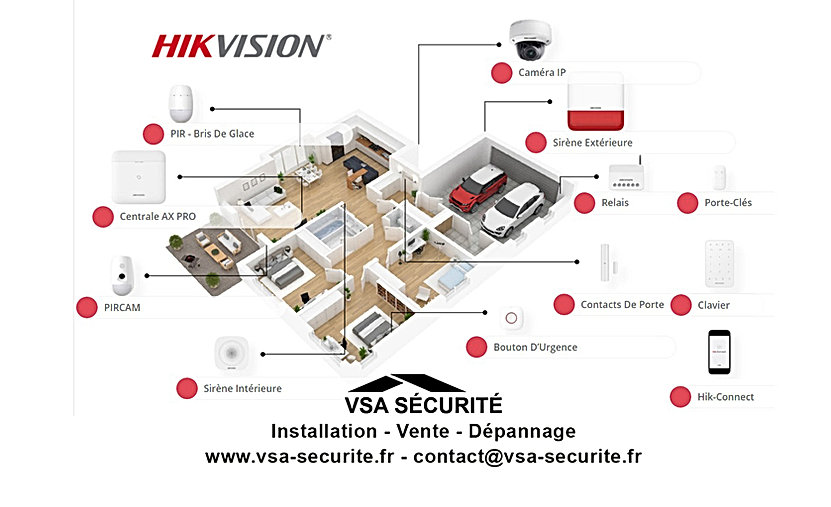 installateur alarme camera hikvision hau