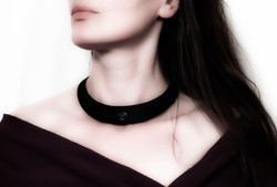 african turquoise leather choker