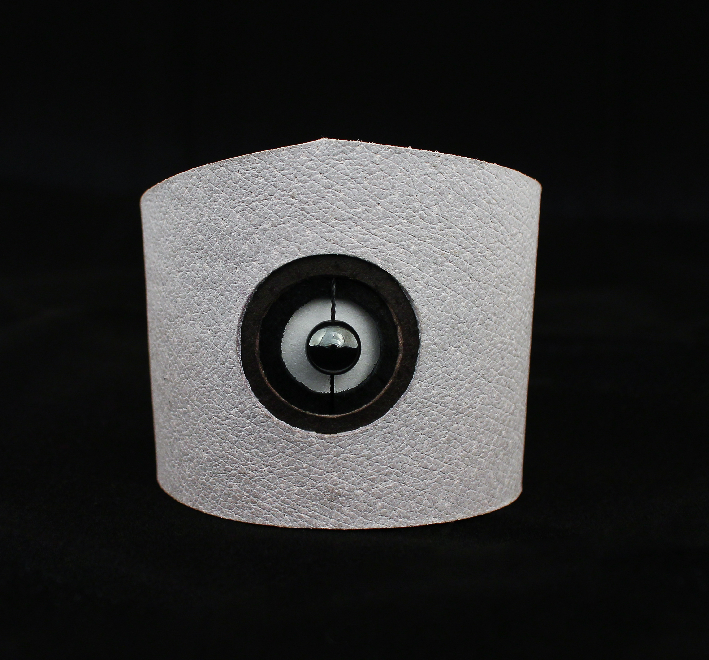 hematite leather cuff bracelet