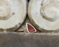 plum wood brass ring