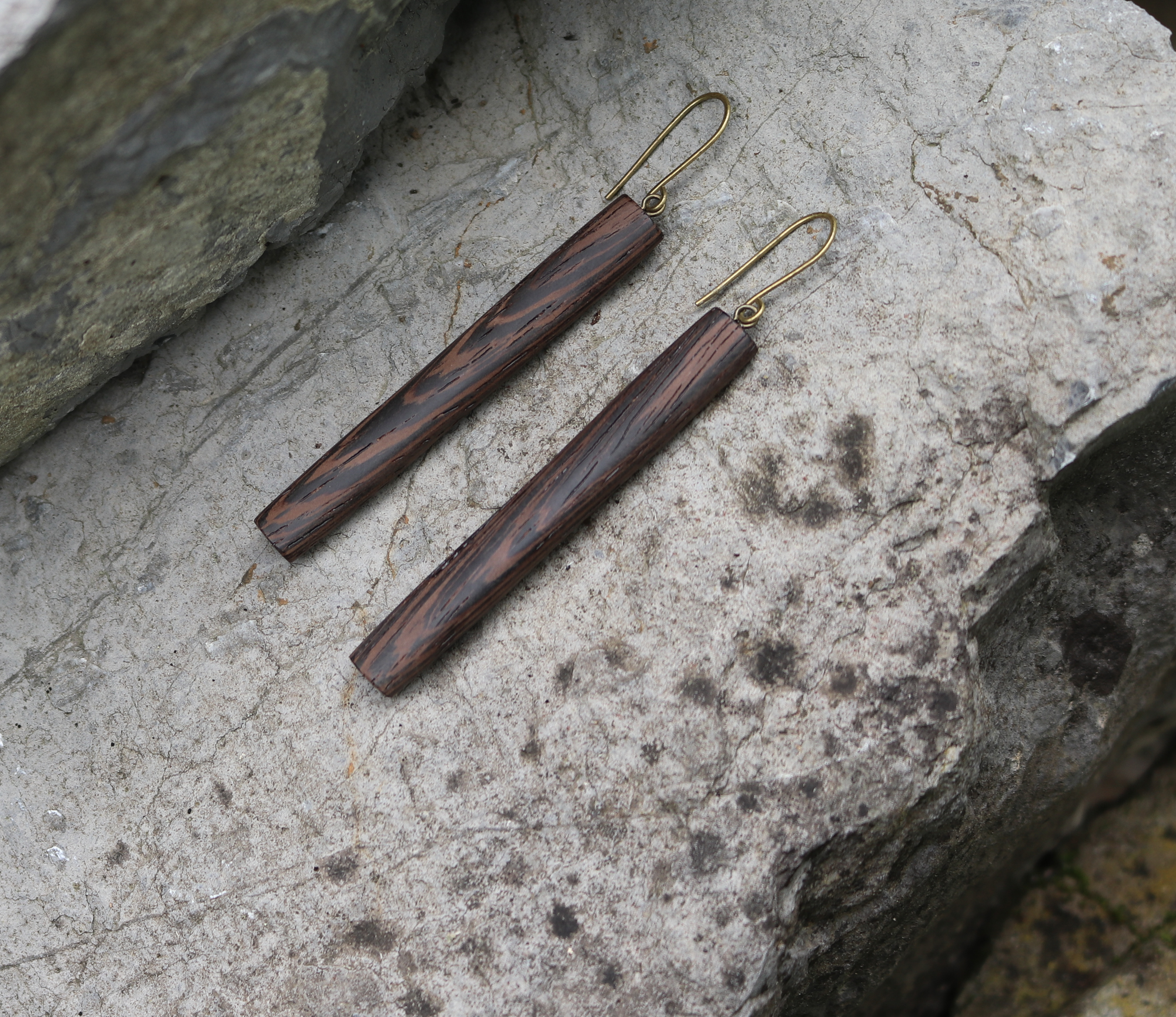 wenge earrings