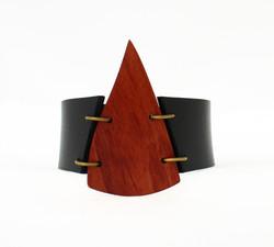 mahogany leather cuff bracelet