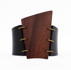rosewood leather cuff bracelet