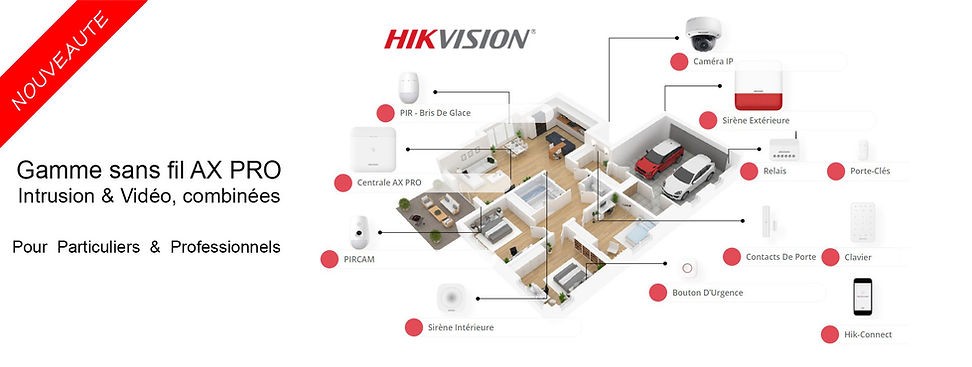 installateur alarme ax pro hikvision hau