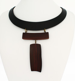 rosewood leather necklace necklace