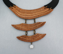 oak moonstone leather necklace
