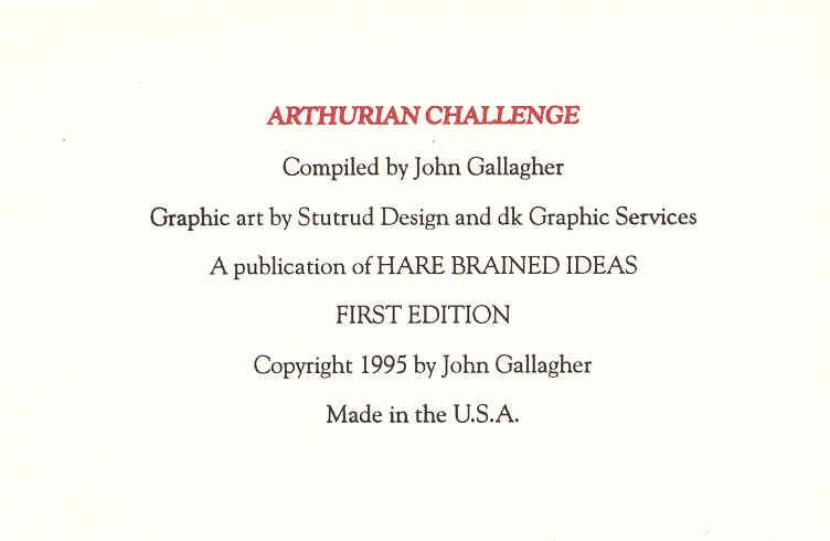 Arthurian Challenge credits