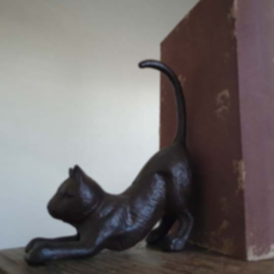 Iron Cat Bookend - Doorstop
