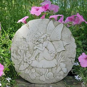 Fairy on Mushroom Plaque
