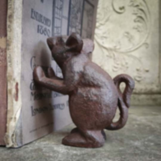 Iron Mouse Bookend