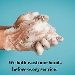 We both wash our hands before every serv