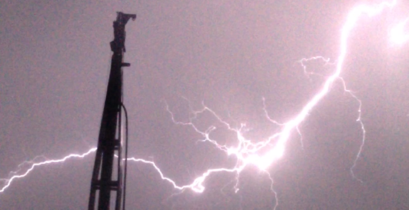 Lightening at drill site