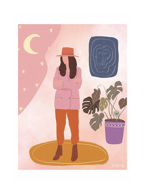 Girl & Monstera with Equality