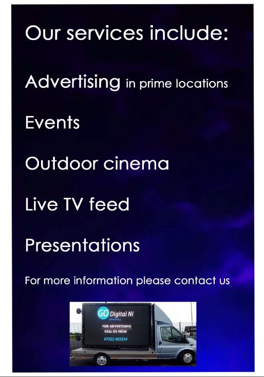 Large mobile screen advertising