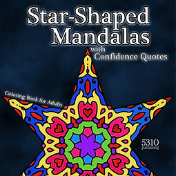 star shaped mandalas coloring book for adults 5310 publishing