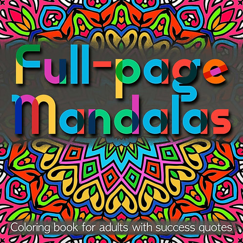 Full-page Mandalas with Success Quotes