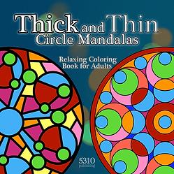 thick and thin lines circle mandalas rel