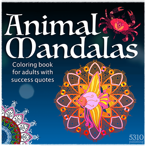Animal-themed Mandalas with Success Quotes