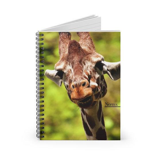 Smiling Giraffe Portrait