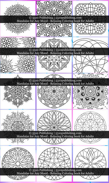 Mandalas for Any Mood - Relaxing Colorin