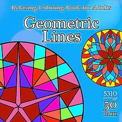 geometric lines adult mandala coloring b