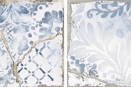Керамогранит Cottage Maiolica Blu Ret 15 × 15 см
